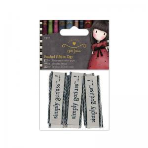 Gorjuss Stitched Ribbon Tags (10pcs) - Simply Gorjuss