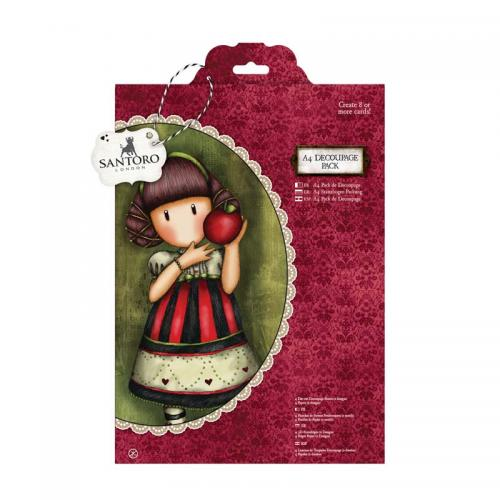 Gorjuss A4 Decoupage Pack - Dear Apple