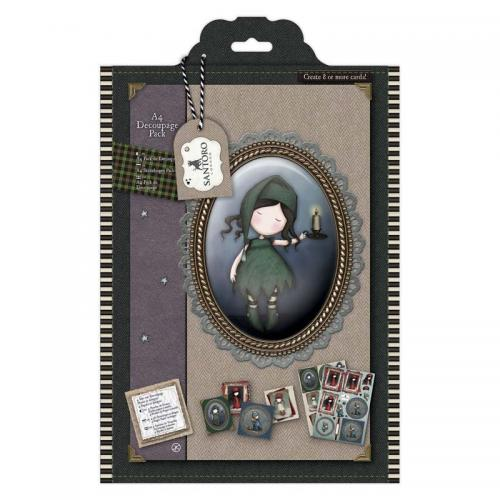 Gorjuss A4 Decoupage Pack - Santoro Tweed -  Nightlight