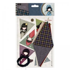 Gorjuss Decoupage Bunting Pack - Santoro Tweed
