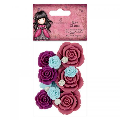 Gorjuss Rose Charms (20pcs) - Santoro