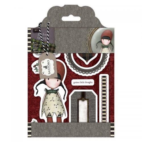 Gorjuss Rubber Stamps - Santoro Tweed - Holly