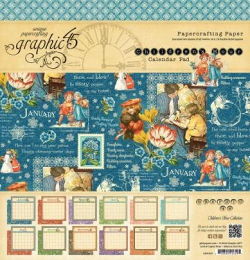 "Graphic 45 12x12"" Calendar Pad"