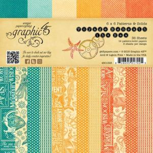 "Graphic 45 6x6"" Patterns & Solids Pad"