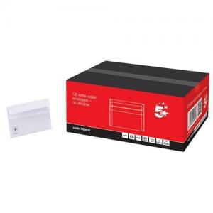 5 Star Office White C6 Envelopes (Pkd 1000)