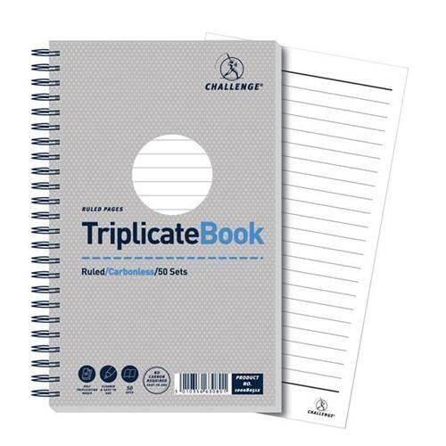 Challenge Carbonless Ruled - Wirebound Triplicate Book