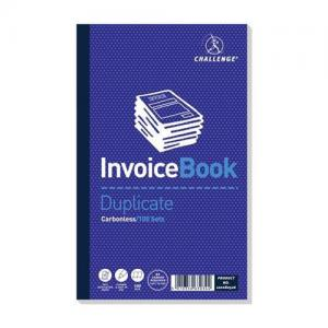 Challenge Carbonless Invoice without VAT - Taped Duplicate Book