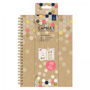 Papermania A5 Notebook - Geometric Kraft