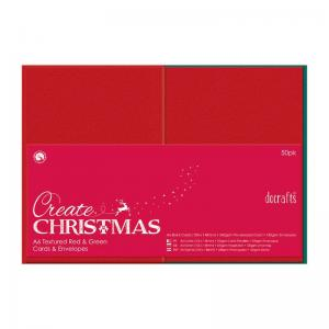 Create Christmas A6 Cards/Envelopes Textured (50pk, 240gsm)