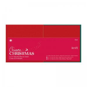 Create Christmas Square Cards/Envelopes Textured (50pk, 240gsm)