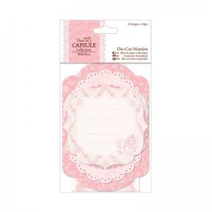 Papermania Die-cut Notelets (18pcs) - Wild Rose