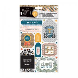 Papermania A5 Die-cut Toppers & Sentiments (2pk) - Mr Mister