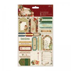 Papermania Die-cut Sentiments (2pk) - Victorian Christmas
