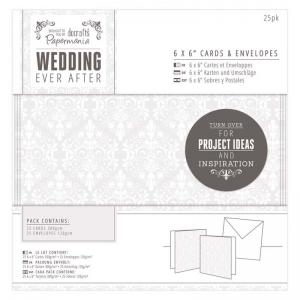"Papermania 6 x 6"" Cards & Envelopes (25pk) - Damask"