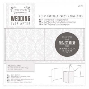 "Papermania 6 x 6"" Gatefold Cards & Envelopes (25pk) - Damask"