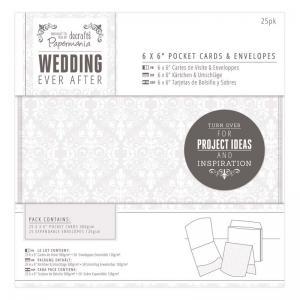 "Papermania 6 x 6"" Pocket Cards & Envelopes (25pk) - Damask"