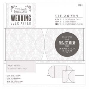 "Papermania 6 x 6"" Card Wraps (25pk) - Damask"