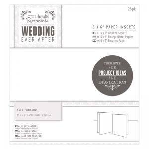 "Papermania 6 x 6"" Paper Inserts (25pk) - White"