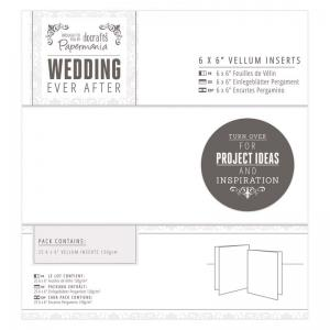 "Papermania 6 x 6"" Vellum Inserts (25pk) - Wedding"