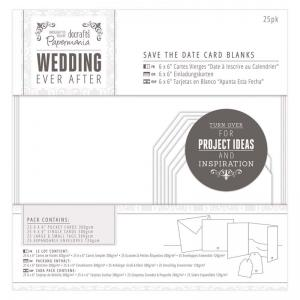 Papermania Save The Date Card Blanks (25pk) - White Heart