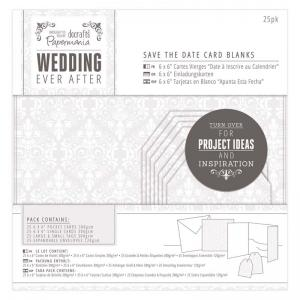 Papermania Save The Date Card Blanks (25pk) - Damask