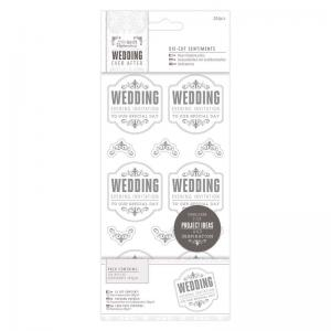 "Papermania 4 x 8"" Die-cut Sentiments (204pcs) - Wedding - EI"
