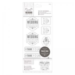 "Papermania 4 x 8"" Die-cut Sentiments (57pcs) - Wedding - Mixed"
