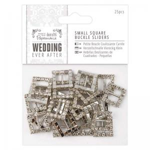 Papermania Small Square Buckle Sliders (25pcs) - Wedding