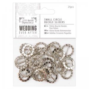 Papermania Small Circle Buckle Sliders (25pcs) - Wedding