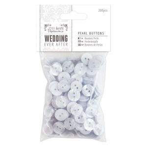 Papermania Pearl Buttons (200pcs) - Wedding
