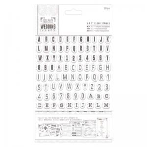 "Papermania 5 x 7"" Clear Stamps (252pcs) - Alphas & Numbers"