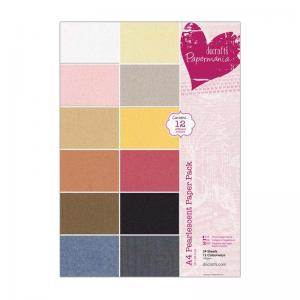 Papermania A4 Pearlescent Paper Pack (24pk)