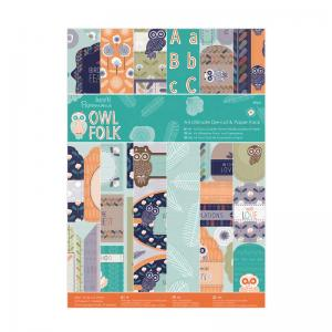 Papermania Die-cut & Paper Pack (48pk) - Owl Folk