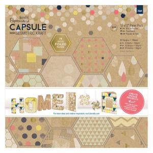 Papermania Paper Pack (36pk) - Geometric Kraft
