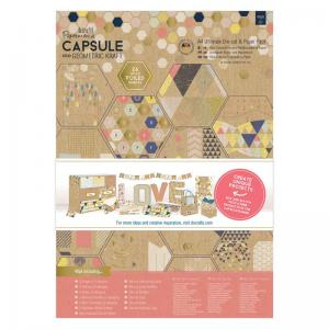 Papermania Die-cut & Paper Pack (48pk) - Geometric Kraft