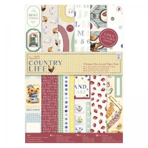 Papermania Die-cut & Paper Pack Linen (48pk) - Country Life