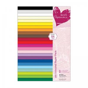 Papermania Coloured Paper Pack (48pk)