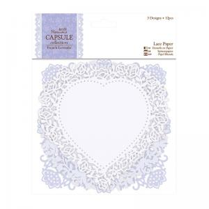Papermania Lace Paper (12pcs) - French Lavender