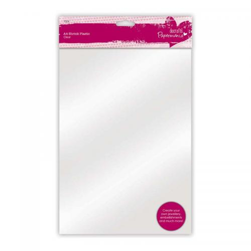 Papermania A4 Shrink Plastic (10pk) - Clear