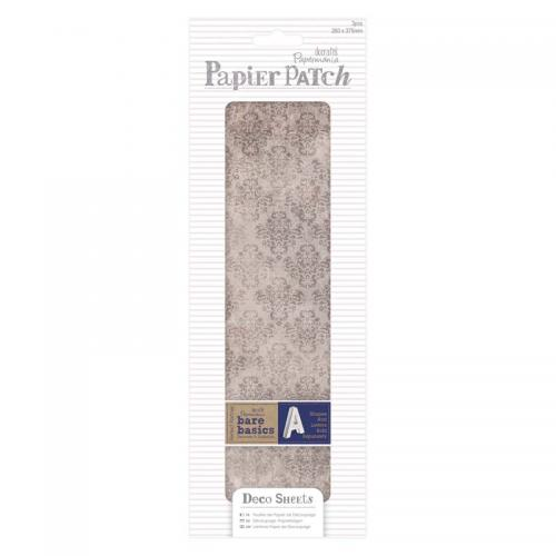 Deco Sheets (3pcs) - Papier Patch - Aged Damask