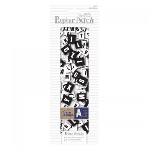 Deco Sheets (3pcs) - Papier Patch - Newspaper