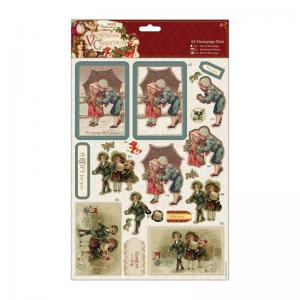 Papermania A4 Decoupage Pack - Victorian Christmas - Children