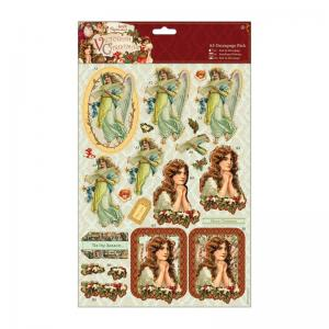 Papermania A4 Decoupage Pack - Victorian Christmas - Cherubs