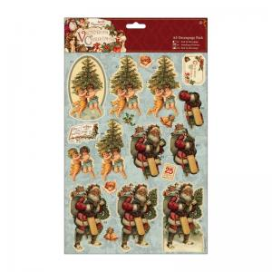 Papermania A4 Decoupage Pack - Victorian Christmas - Trees