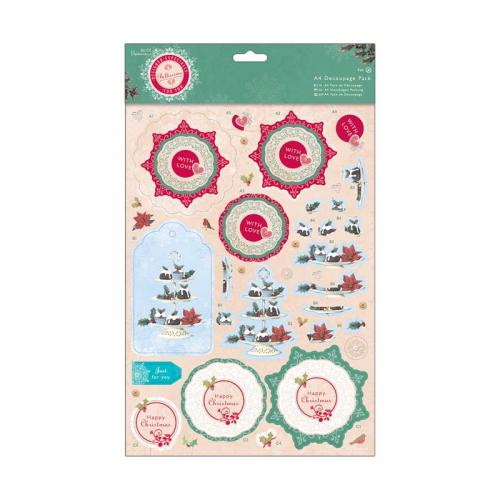 Papermania A4 Decoupage Pack - Bellissima Christmas - Cake Stand