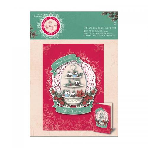 Papermania  A5 Decoupage Card Kit - Bellissima Christmas