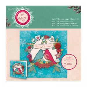 Papermania 6 x 6'' Decoupage Card Kit - Bellissima Christmas