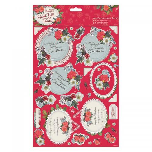 Papermania A4 Decoupage Pack - Pocket Full of Posies - Mum