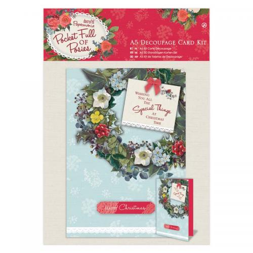 Papermania A5 Decoupage Card Kit - Pocket Full of Posies
