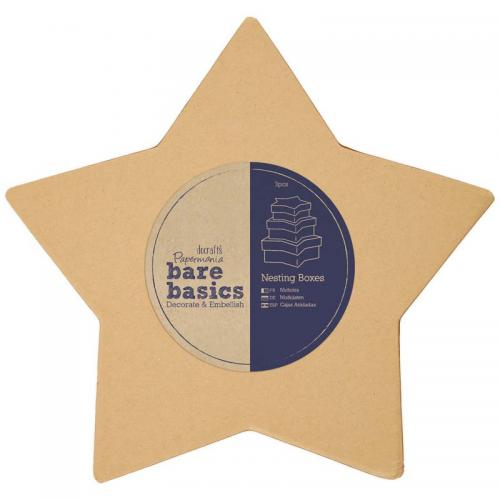 Papermania Nesting Boxes - Star (S/M/L)